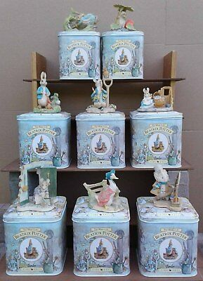 Border Fine Arts - Beatrix Potter - Figurines In Tins Selection.