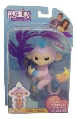 Fingerlings Two Tone Baby Monkey Candi Interactive Toy Authentic - #3722