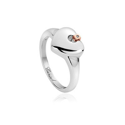 NEW Official Welsh Clogau Silver & Rose Gold Cariad Heart Ring £60 off! SIZE P