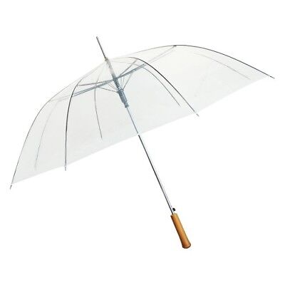"""48"""" Clear BULK PACK of 48 Umbrellas - NEW with DEFECT - Works Perfectly!"""