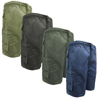 Men's Plain 5 Pocket Cargo Shorts & 3/4's Combat Bottoms Summer Holiday M-6XL