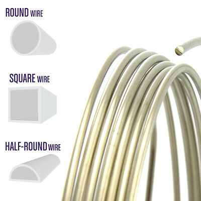 Nickel Silver Wire, Round, Half Round, Square, 12 14 16 18 20 21 22 24 Gauge