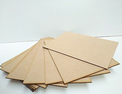 Wooden MDF High Quality Plain Board A3 A4 A5 A6 Laser Safe, CHEAPEST IN UK
