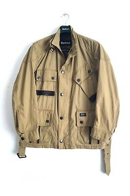 Barbour x Deus Ex Machina Cotton Motorcycle Jacket size men's M
