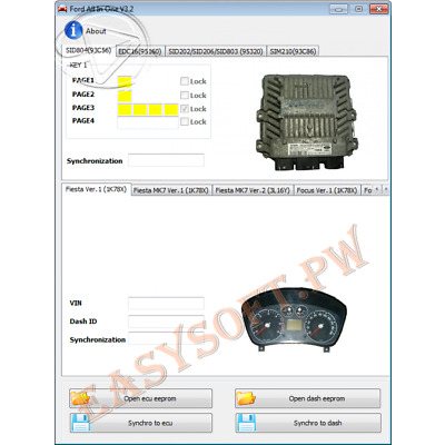 Ford All In One v3.2 software