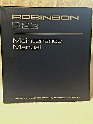 Robinson r22 helicopter maintenance service manual $129. 95.