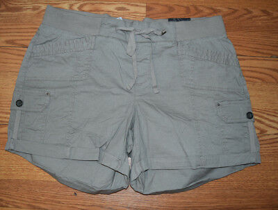 NWT Womens ONE 5 ONE Light Weight Pull On Shorts Cobblestone Gray Size L Large
