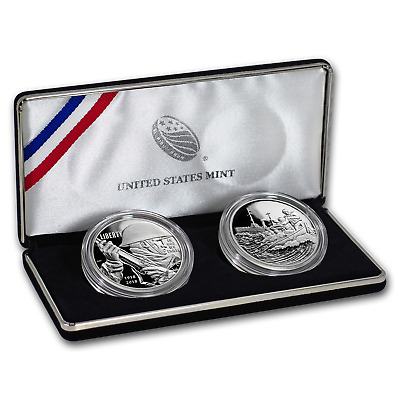 2018 World War I Centennial Silver Dollar Coast Guard Medal Set - SKU#159198