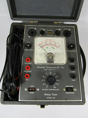 Accurate instrument co electronics utility tester model 161 tube tester vintage