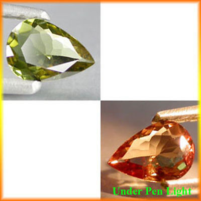 0.85Cts World Best Quality Gem - Natural Yellow To Red Color CHANGE GARNET #HX07