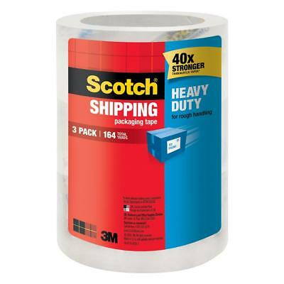 Scotch Heavy Duty Packaging Tape 1.88 in x 54.6 yds 3 Pack Shipping Moving