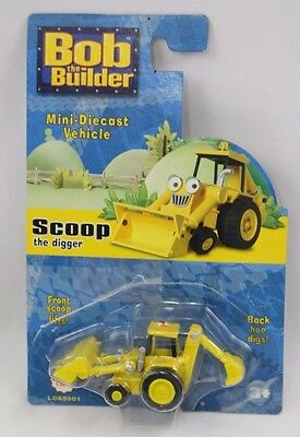 Bob the Builder Mini Diecast Scoop the Digger Yellow Truck