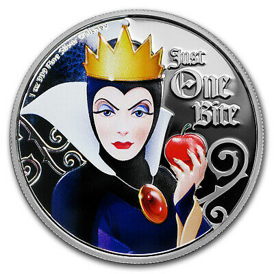 2018 Niue 1 oz Silver $2 Disney Villains Evil Queen - SKU#168539