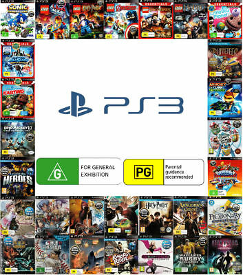 💚💛 Sony PlayStation 3 PS3 ●● GAMES RATED G or PG ●● Your Choice 09/06/18 💚💛