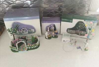 3 X Dept 56 One Hop Walk, It's the Easter Bunny!, Easter Decorating Set (5pc)*