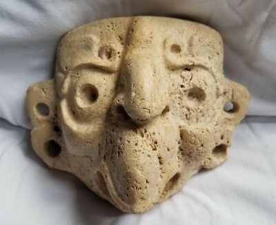 Pre-Columbian Mayan bird deity stucco mask from Guatemala. 800 ad.