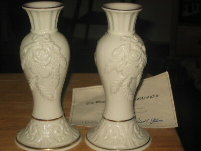 Lenox Collections.... Pair of  Winter Bouqyet Candlesticks