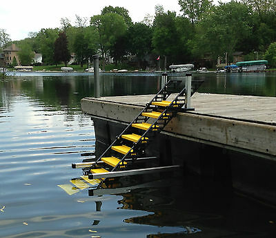 WAG Dog Boarding Steps Model RDM-10 for Docks (vs. Ladders/Ramps/Platforms)