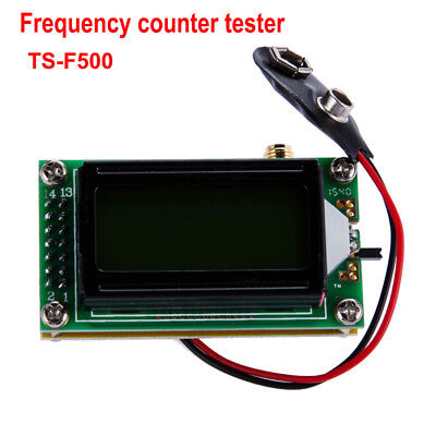 High Accuracy RF 1 to 500 MHz Frequency Measurement Meter 0802 LCD For Ham Radio