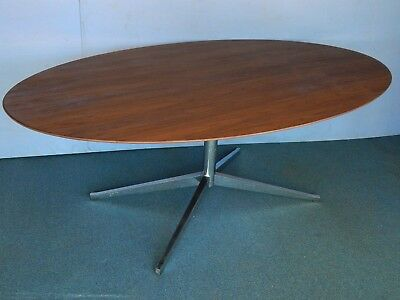 VTG OVAL KNOLL Table X Dining Desk Conference Meeting Mid - Mid century modern conference table