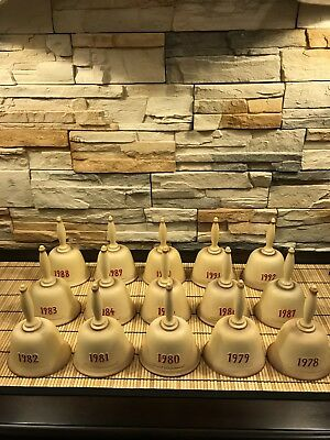 COMPLETE SET OF 15 GOEBEL HUMMEL ANNUAL BELLS 1978-1992 in Excellent Condition