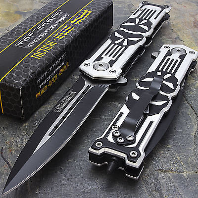 """TAC FORCE 8.25"""" PUNISHER ASSISTED OPEN TACTICAL KNIFE Fold Blade Pocket Switch"""