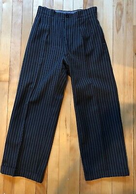 VINTAGE EARLY 1900's ANTIQUE FRENCH WORKWEAR TROUSERS PANTS