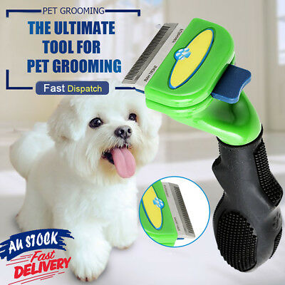 Stainless Pet Cat Dog Tool DeShedding Long Short Fur Hair Comb Grooming Brush