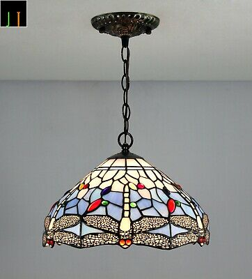 Free Postage Tiffany Blue Dragonfly Stained Glass Pendant Light Home Decor