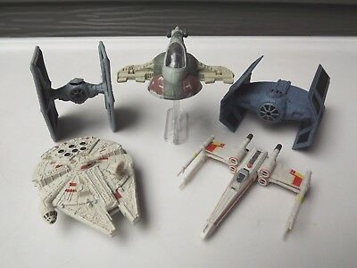 2004 Hasbro Star Wars Micro Machines Titanium Series Die-Cast Lot of 5
