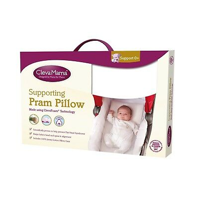 Clevamama Clevafoam Baby Pram Pillow - Breathable Foam +0 Months