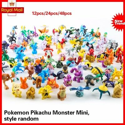 Pokemon Mini Figures 12 24 48 PCS , BRAND NEW , UK SELLER, FREE EXPRESS SHIP