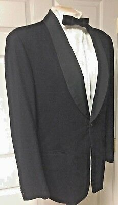 VTG Bailey & Weatherill Evening Suit 1956 Midnight Blue Wool Shawl Collar SZ 42