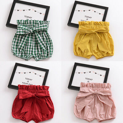 Summer Newborn Baby Boy Girl Kid Harem Pants Shorts Bottoms PP Bloomer Panties
