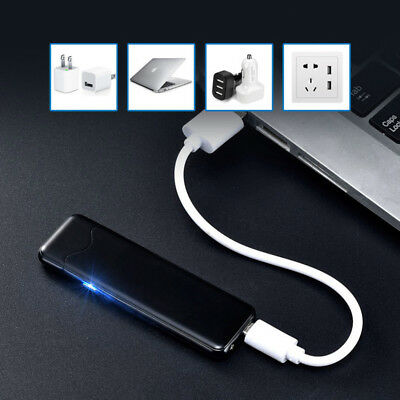Windproof Flameless Dual Arc Electric USB Lighter Rechargeable Metal Lighters YS