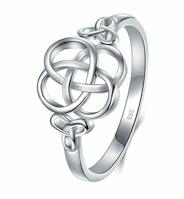 925 Sterling Silver Ring Celtic Knot High Polish Tarnish Resistant Wedding Band