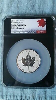 2018 Canada $50 3oz Silver Maple Leaf INCUSE Reverse Proof NGC PF70 FDOP