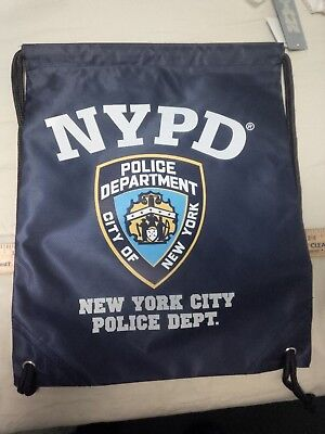 Drawstring Backpack Laundry Bag Camp Beach Nypd City Of New York Police Departme