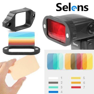 Magnetic Flash Selens Modifier Universal Gels Grip With 7 Pcs Gel Filters+Band