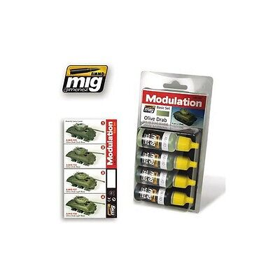 Ammo of Mig - Olive Drab (basic set) - (4 Jars X 17ml)