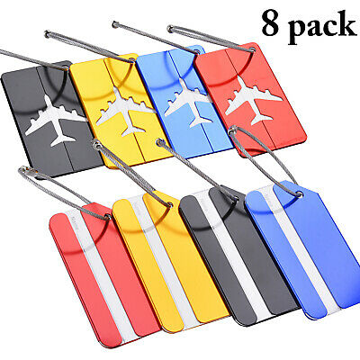 8pcs Luggage Tags Suitcase Label Name Address ID Bag Baggage Tag Travel