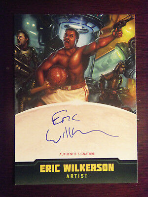 2015 Kickstarter IDW MARS ATTACKS Occupation Artist Autograph Eric Wilkerson