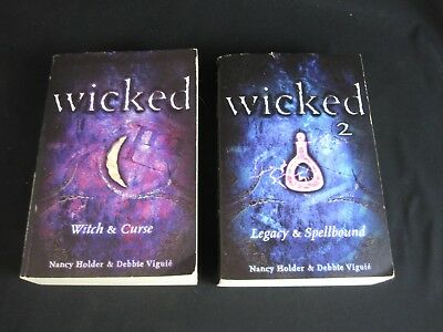Lot of 2 Wicked (Witch & Curse), Wicked 2 (Legacy & Spellbound) Holder & Viguie
