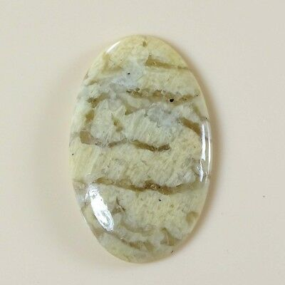 35.10 Ct. Natural Graphic Feldspar Oval Cabochon 23X38X2 Loose Gemstone A-137