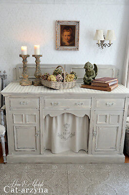 FRENCH STYLE SHABBY Chic Vintage Painted Solid Sideboard - £225.00 ...