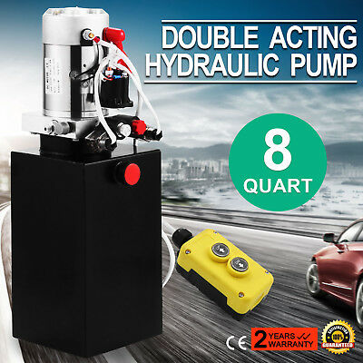 VEVOR Double-Acting Hydraulic Pump Power Pack with Controller - 12 VDC 8 Quart