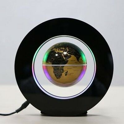 "3"" Round Shape Magnetic Levitation Floating Globe LED Light World Map Home Decor"