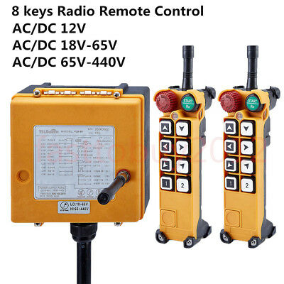 Industrial Radio Wireless Remote Control Transmitter & Receiver EOT Crane 8Keys