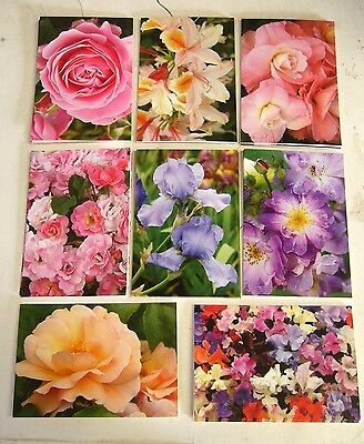 Bulk Lot * 24 X Blank Full Size Floral Greeting Cards * Free Post *