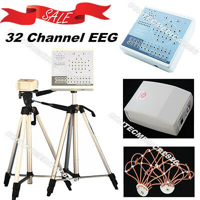 KT88-3200 Digital Brain Electric Activity Mapping 32 Channel EEG Machine+Tripods